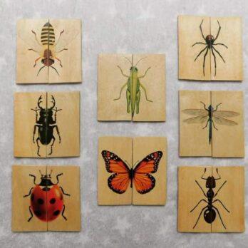 COMBOx8 rompecabezas de 2 piezas -Insectos